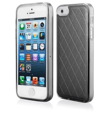 Puzdro iPhone 5/5s/SE Skin silikónové -  čierne