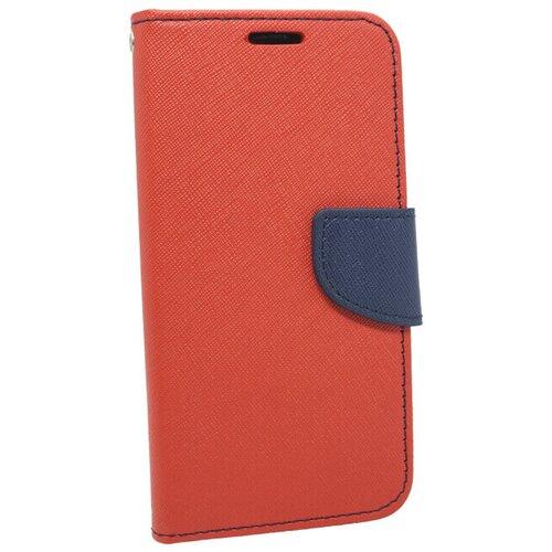 Puzdro Huawei P8 Lite Fancy book, bočná knižka červeno-modrá