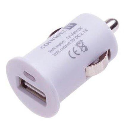 CONNECT IT InCar COLORZ nabíjačka do auta 1xUSB 2,1A, biela