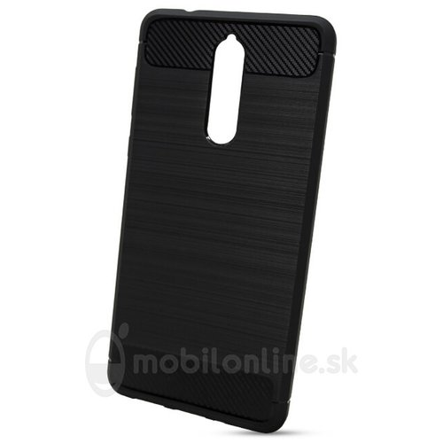 Puzdro Carbon Lux TPU Nokia 8 - čierne