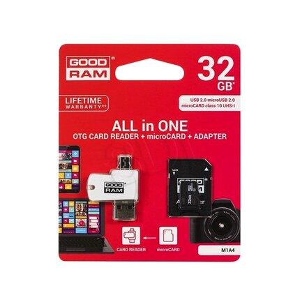 USB a Micro SD čítačka 2v1, bonus karta 32GB MicroSD class 10 s adaptérom