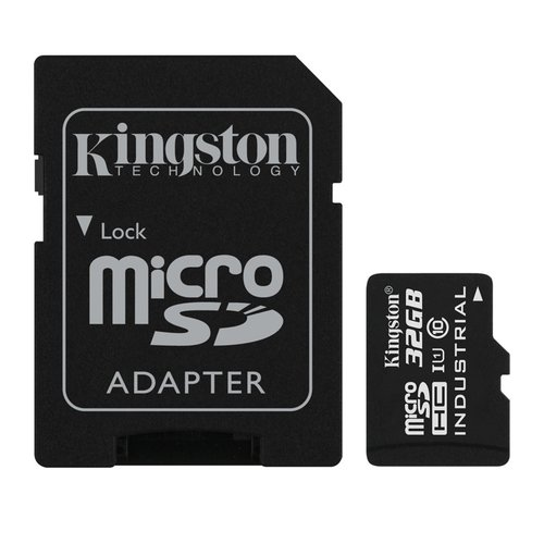 MicroSDHC karta KINGSTON 32GB UHS-I Industrial Temp + adaptér