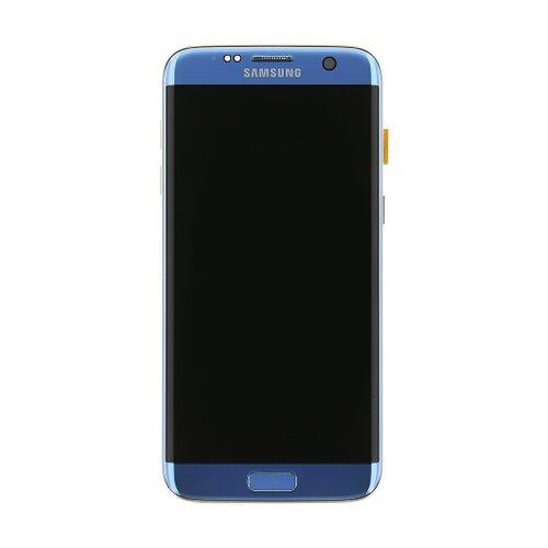 Samsung G935 Galaxy S7 Edge - LCD Displej + Dotyková Plocha - Modrý (Service Pack)