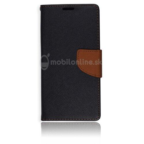 Puzdro Fancy Book Samsung Galaxy A5 A510 - čierno-hnedé