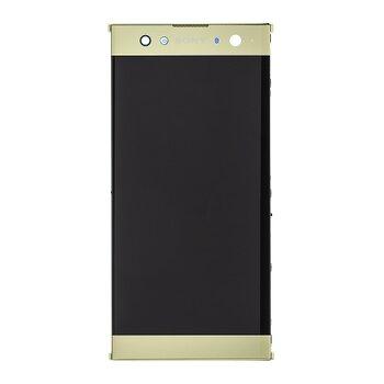 Sony H4213 Xperia XA2 Ultra - LCD Displej + Dotyková Plocha + Sklíčko s Rámom - Zlatý (Service Pack)