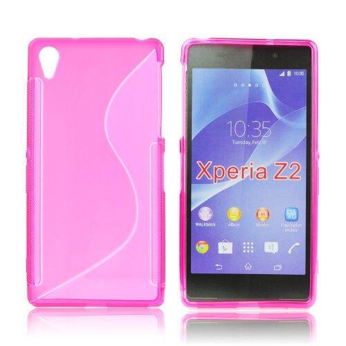 Puzdro Sony Xperia Z2 D6503 S-line gumené ružové