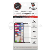 Tvrdené sklo Pantera Glass Asahi 9H iPhone 7/8 0,3mm celotvárové - čierne