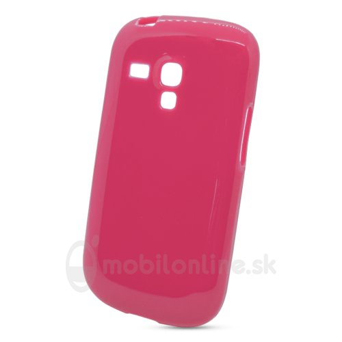Puzdro NoName Solid TPU Samsung Galaxy S3 mini i8190/i8195/i8200VE - ružové