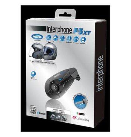 Bluetooth handsfree pre uzavreté a otvorené prilby CellularLine Interphone F5XT