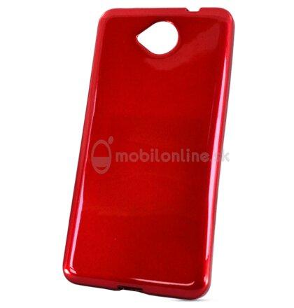 Puzdro Microsoft Lumia 650 Jelly Candy silikónové červené