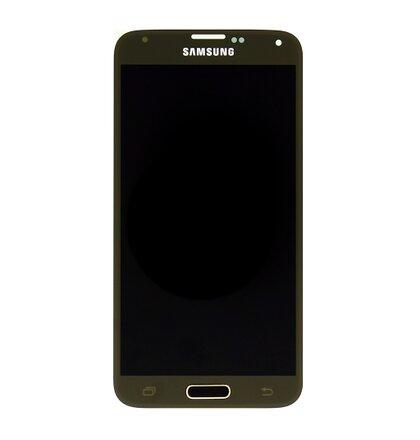 LCD Displej + Dotyk Samsung G900 Galaxy S5 Gold
