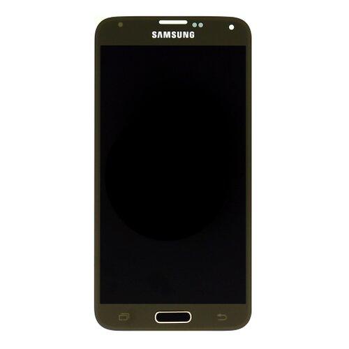 Samsung G900 Galaxy S5 - LCD Displej + Dotyková Plocha - Zlatý
