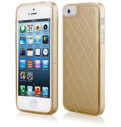 Puzdro iPhone 5/5s/SE Skin silikónové - zlaté