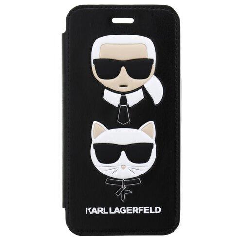 Puzdro Karl Lagerfeld pre iPhone 7/8/SE2020 KLFLBKI8KICKC knižkové, čierne