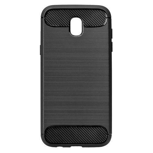 Puzdro Carbon Lux TPU Samsung Galaxy J3 J330 2017 - čierne