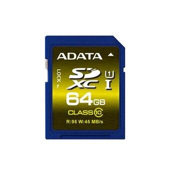 64 GB . SDXC/SDHC Premier UHS-I karta ADATA class 10 Ultra High Speed