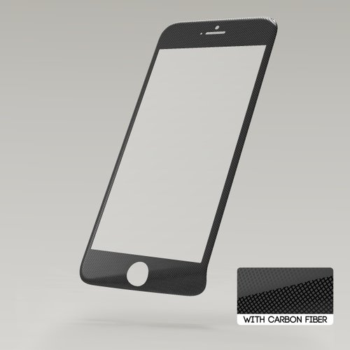 Ochranné sklo Sturdo 3D Fiber Carbon iPhone 6/6s celotvárové - čierne