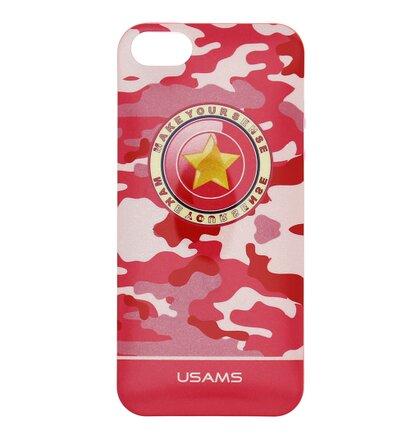 USAMS TPU Silikonové Pouzdro Camo Pink pro iPhone 5/5S/SE