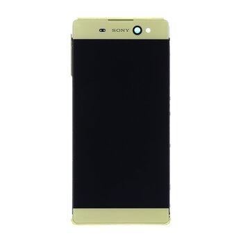 Sony F3211 Xperia XA Ultra - LCD Displej + Dotyková Plocha + Sklíčko s Rámom - Zlatý (Service Pack)
