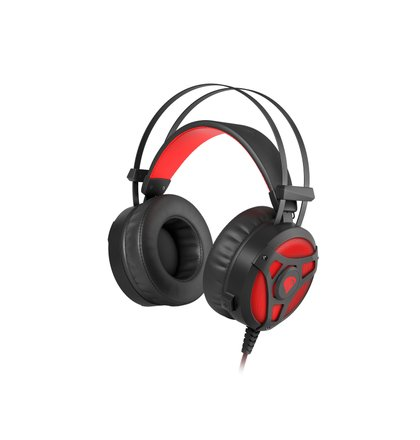 Herní sluchátka s mikrofonem Genesis Neon 360, Stereo, Vibrace, červené podsvícení