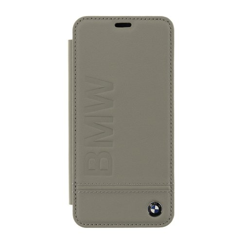BMFLBKS9LLST BMW Signature Real Leather Book Case Taupe pro Samsung G960 Galaxy S9