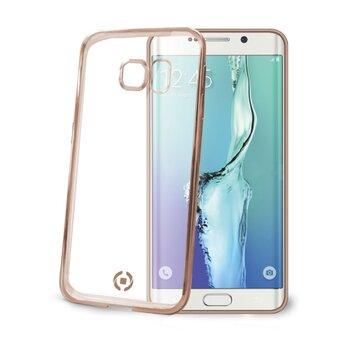TPU púzdro CELLY Laser-lemovanie s kovovým efektom pre Samsung Galaxy S6 Edge Plus, zlaté