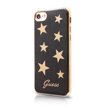 GUHCP7STABK Guess Stars Soft TPU Pouzdro Black pro iPhone 7/8