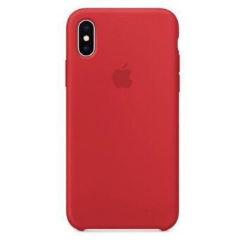 Puzdro Apple Silicone Case iPhone X Red