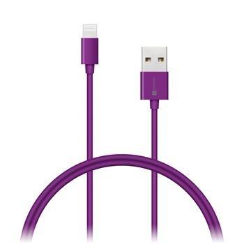 CONNECT IT Wirez COLORZ kábel Apple Lightning - USB, 1m, fialový