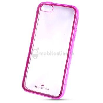 Puzdro iPhone 5/5s/SE Bumper Halssen silikón - ružové