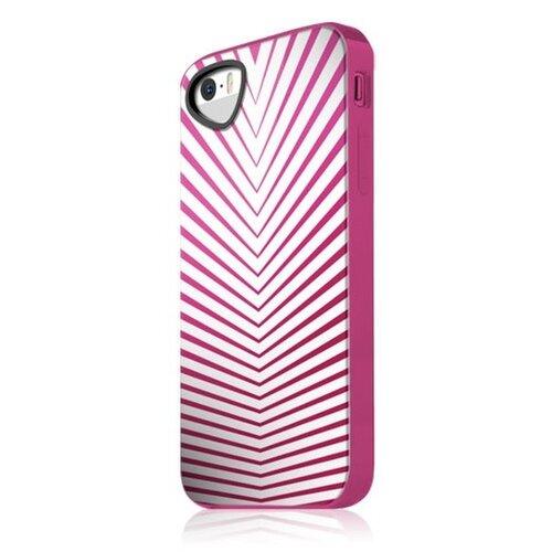 Značkový zadný kryt ITSKINS iPhone 5/5S/SE bielo ružová