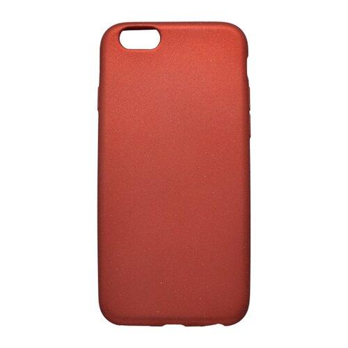 Puzdro TPU s trblietkami iPhone 6/6s, červené