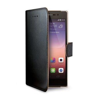 Puzdro CELLY Wally Book Huawei P8 Lite - čierne