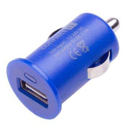 CONNECT IT InCar COLORZ nabíjačka do auta 1xUSB 2,1A, modrá