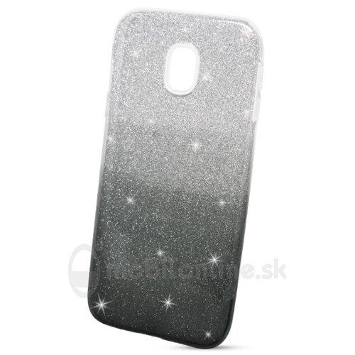 Puzdro Shimmer 3in1 TPU Samsung Galaxy J3 J330 2017 - čierno-strieborné