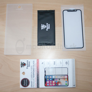 Tvrdené sklo Pantera Glass Asahi 9H 0.3mm iPhone X/Xs celotvárové - čierne