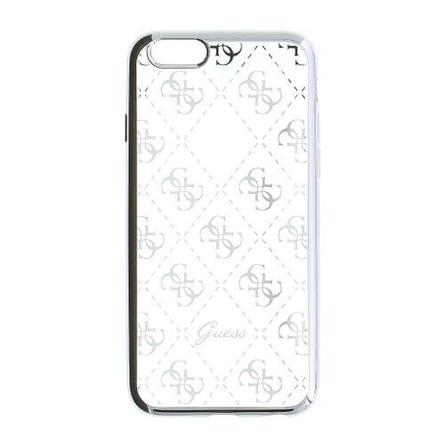 Puzdro Guess pre iPhone 5/5S/SE GUHCPSETR4GSI silikónové, strieborné