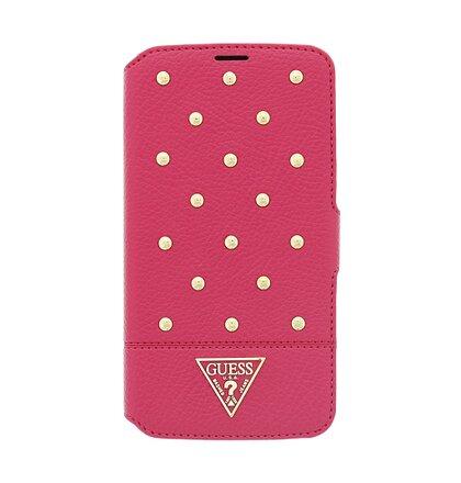 GUFLBKS4MSTSM Guess Tessi Book Kožené Pouzdro Pink pro Samsung i9195 Galaxy S4mini