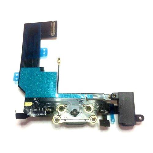 Apple iPhone SE - Flex Kábel Nabíjacieho Konektora + Audio Jack - Čierny