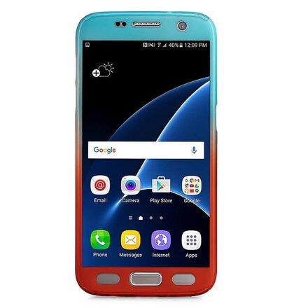 Puzdro 360 Full Body Slim Samsung Galaxy S7 G930 - modro-červené