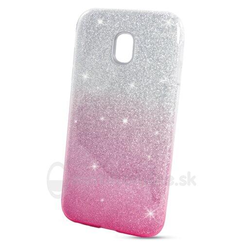 Puzdro Shimmer 3in1 TPU Samsung Galaxy J3 J330 2017 - ružovo-strieborné