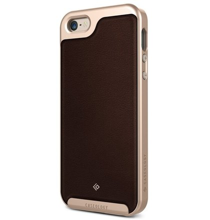 Puzdro CASEOLOGY iPhone 5/5s/SE Case Envoy Leather hnedé