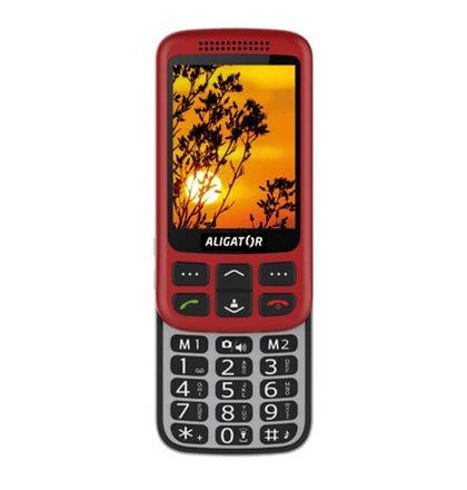 Aligator VS900 Senior, Červeno-strieborný + stolná nabijačka