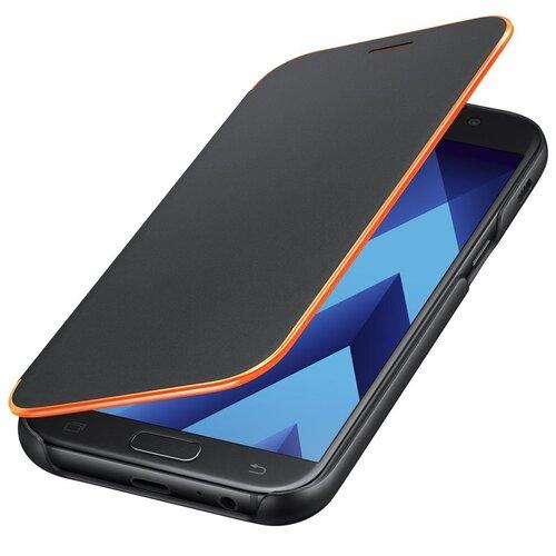 EF-FA520PBE Original Samsung Neon Flip Puzdro Book Galaxy A5 A520 2017 - čierne