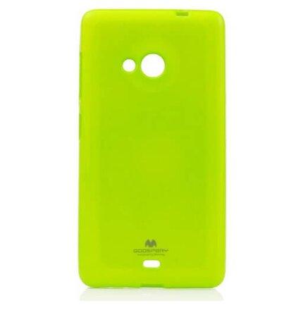 Gumené púzdro Mercury Jelly na Microsoft Lumia 535 limetka