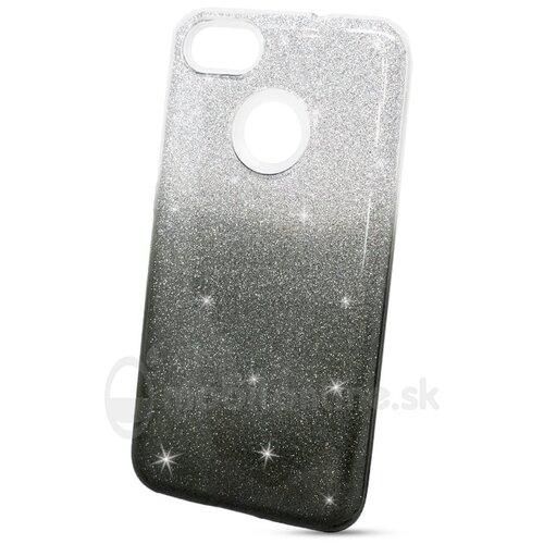 Puzdro Shimmer 3in1 TPU Huawei P9 Lite Mini - strieborno-čierne