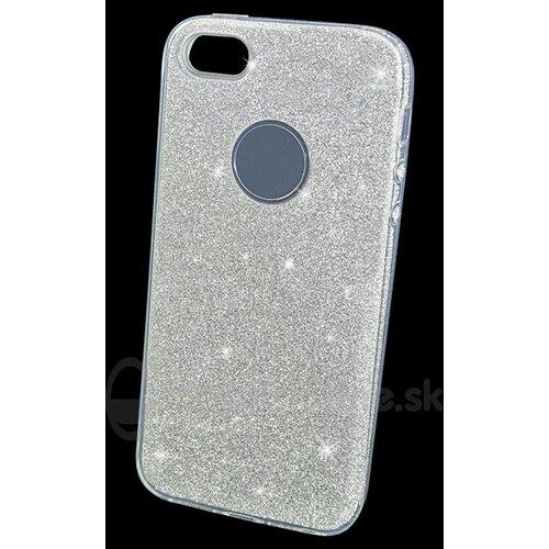 Puzdro 3in1 Shimmer TPU iPhone 5/5s/SE - strieborné