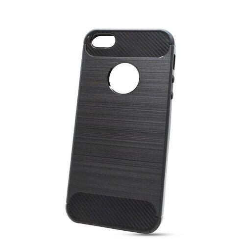 Puzdro Carbon Lux TPU iPhone 5/5s/SE - čierne