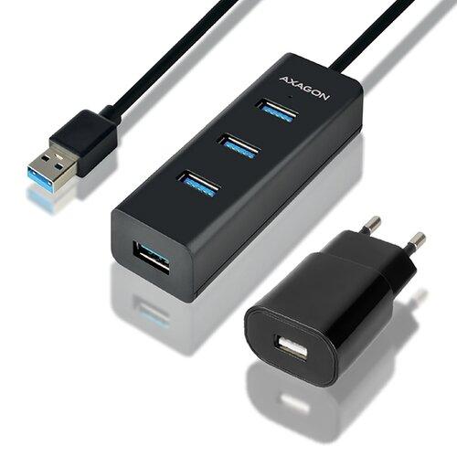 USB HUB AXAGON HUE-S2BP 4xUSB 3.0 s 1.2m USB káblom a AC adaptérom