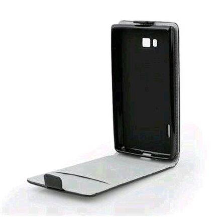 Puzdro Samsung Galaxy E5 knižkové ForCell Slim Flip Flexi, čierne